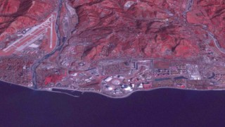 The Black Sea resort of Sochi, Russia, is seen in a north-looking NASA image