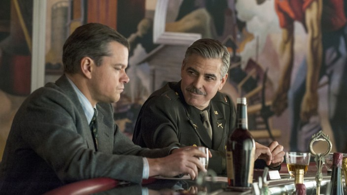 "Matt Damon und George Clooney in ""Monuments Men"""
