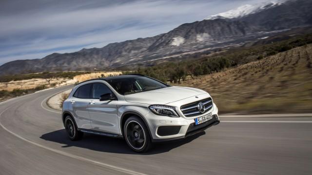 Der Mercedes GLA beim Test in Granada