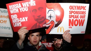 Rally against Russia's anti-gay stance