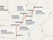 Grafik geplante U-Bahn-Verbindung U9