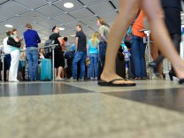Ferienverkehr am Flughafen in München