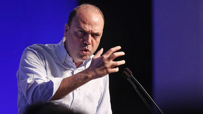 Italy's New Center-Right party (NCD) leader, Angelino Alfano