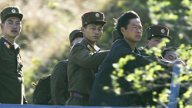 Military Stand Guard On North Korean Borders