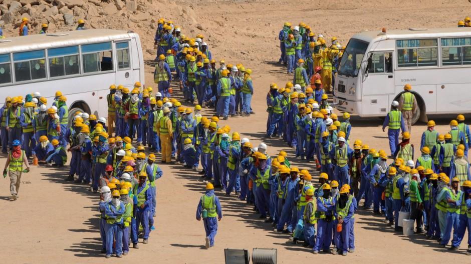 Bauarbeiten zur WM in Katar