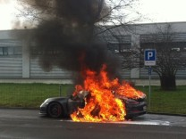 Brennender Porsche 911 GT3