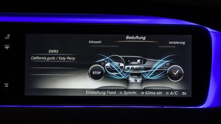 Beduftung in der Mercedes S-Klasse.