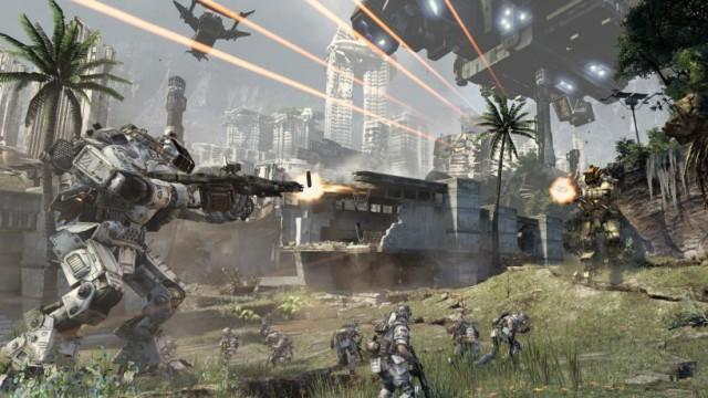 "Szene aus dem Computerspiel ""Titanfall"""