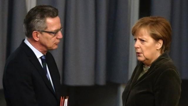 Angela Merkel und Thomas de  Maizière
