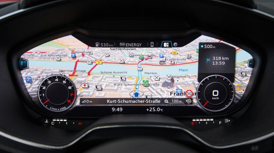 Auto cockpit straße  Audi TT im Fahrbericht - Digitales Fahrerlebnis - Auto & Mobil ...