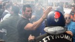 Electricity authority EAC workers protest in Nicosia