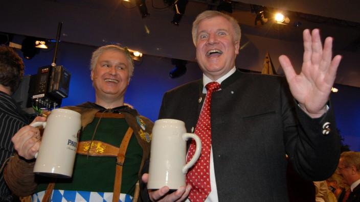Horst Seehofer bei der Starkbierprobe auf dem Nockherberg, 2009, Horst Seehofer at the Nockherberg, 2009