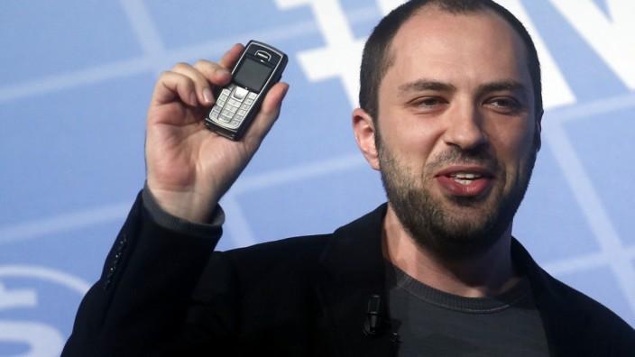 Whatsapp-Chef Jan Koum auf dem Mobile World Congress in Barcelona