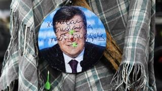 Viktor Janukowitsch als Zielscheibe