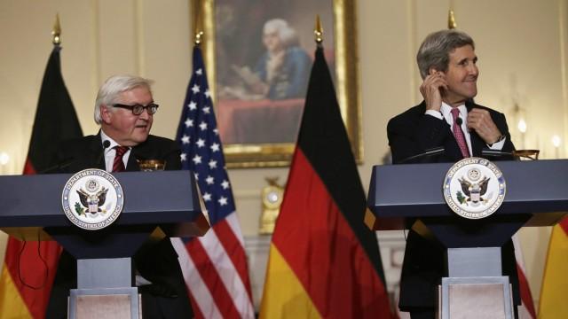 Frank-Walter Steinmeier und John Kerry in Washington
