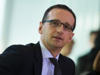 German Justice Minister Heiko Maas attends a cabinet meeting at the Chancellery in Berlin