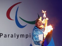Sochi Paralympic Torch Is Lit At Stoke Mandeville