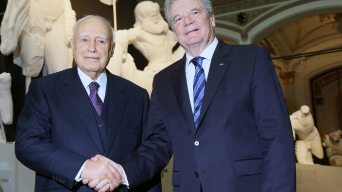 Joachim Gauck und Karolos Papoulias