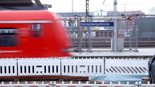 Baustelle S-Bahnhof Donnersbergerbrücke