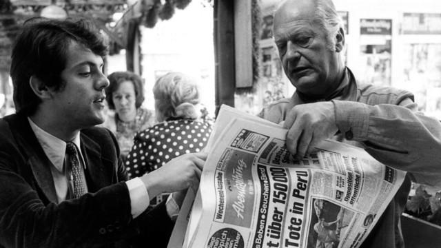 Michael Graeter und Curd Jürgens, 1982