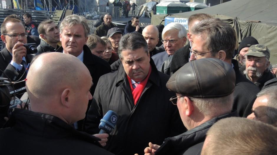 Gabriel in der Ukraine