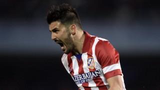 Atletico Madrid's Villa celebrates his goal against Celta Vigo during their Spanish first division match in Vigo
