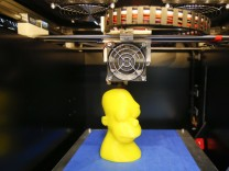 A Fabmaker 3D printer is pictured at the CeBIT trade fair in Hanover
