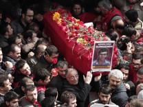 Funeral ceremony for Gezi Park protester