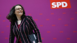 Secretary General of the SPD Nahles arrives for party leaders meeting in Berlin