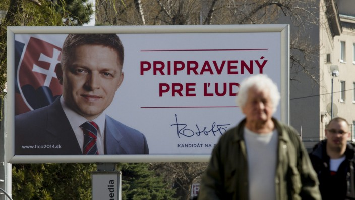 Slovak direct presidential election campaign