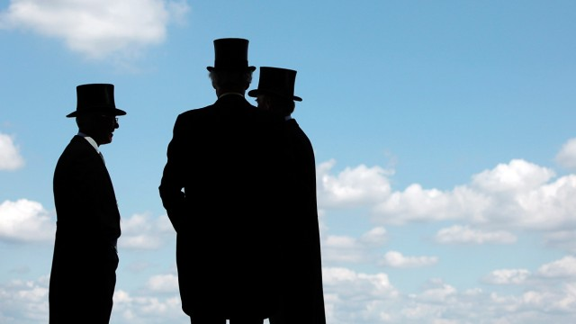Racegoers arrive for the first day of racing at the Royal Ascot meeting