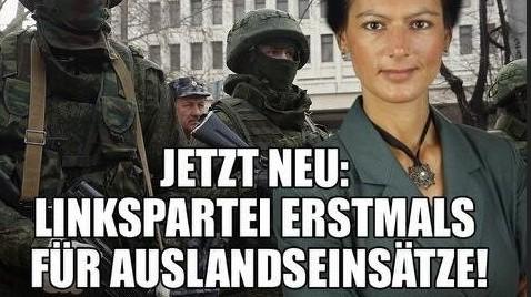 Grünes Plakat gegen Sahra Wagenknecht