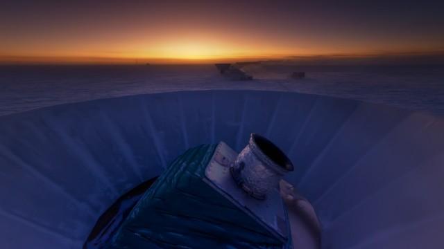 Das BICEP2-Teleskop am Südpol