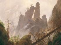 """Das Gemälde ´Felsenlandschaft im Elbsandsteingebirge"""" von Caspar David Friedrich"""