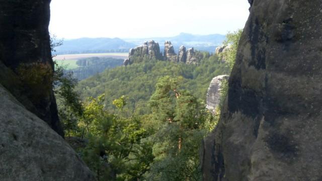Die Schrammsteine sind eines der Fotografen-Highlights auf dem Malerweg