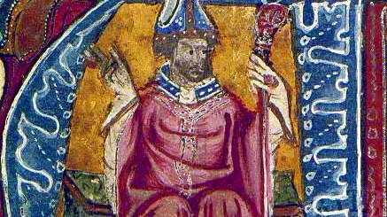 Porträt Robert Grossetestes aus dem 14. Jahrhundert