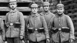 Deutsche Infanteristen bei den Kämpfen um Lodz, 1914 Erster Weltkrieg