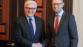 German Foreign Minister Steinmeier in Ukraine