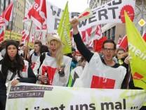 Warnstreik im Öffentlichen Dienst in München, 2014.