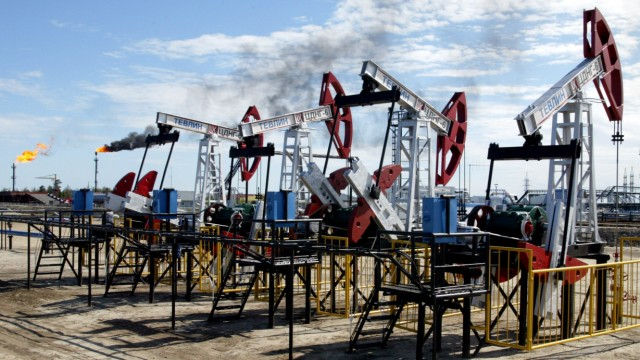 File photo of the Russia's oil major LUKOIL oil refinery near the town of Kagalym in western Siberia