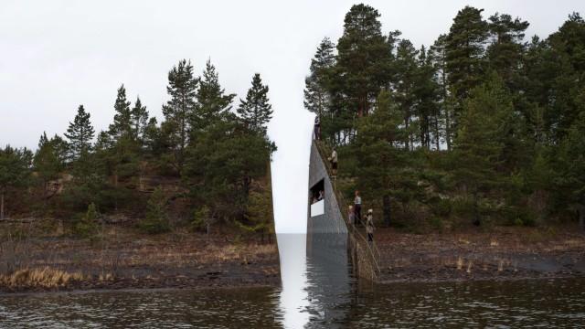 Anders Behring Breivik Mahnmal bei Utøya