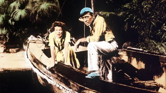 Humphrey Bogart und Katherine Hepburn in African Queen