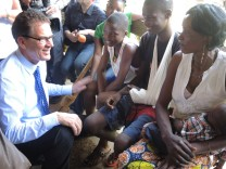 Entwicklungsminister Gerd Müller in Bangui