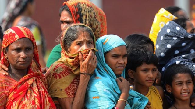 Zeugen des Fabrikeinsturzes in Sabhar