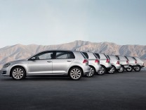 Alle Generationen des VW Golf