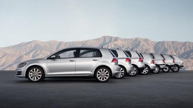 Alle Generationen des VW Golf