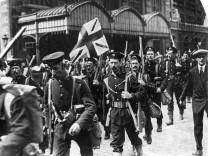 Britische Soldaten in Antwerpen, 1914