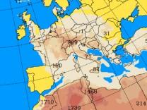 Staub über Europa