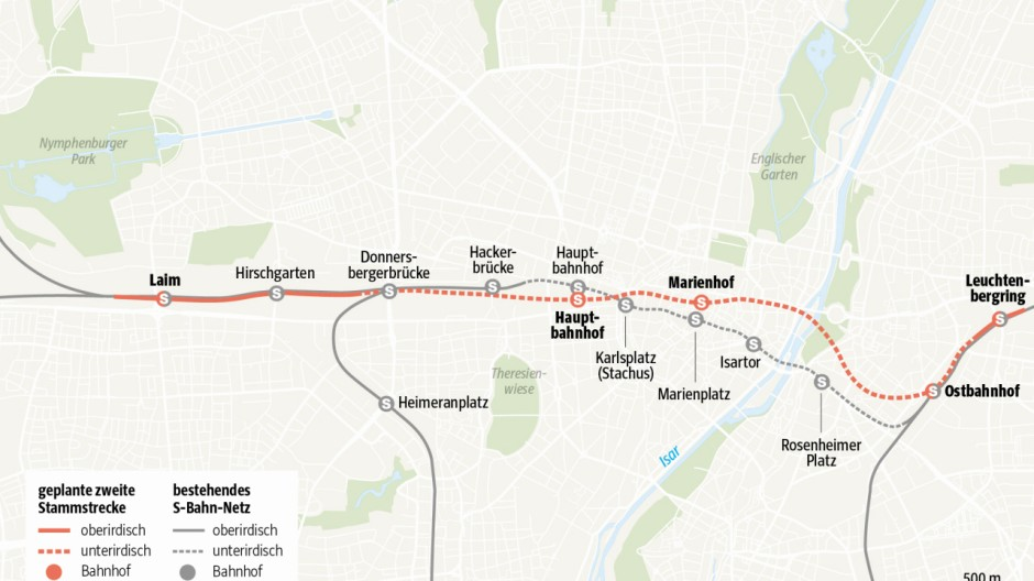 Grafik Stammstrecke Tunnel 1