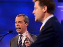 BBC Hosts Second Nick Clegg And Nigel Farage Debate